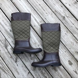 Storm by Cougar Sienna Quilted Rain Boot, Sz 9M